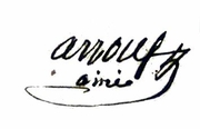Arrous Michel 1785 1848 Signature