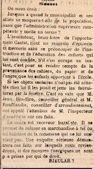 Article de la Republique Démocratique de 1889